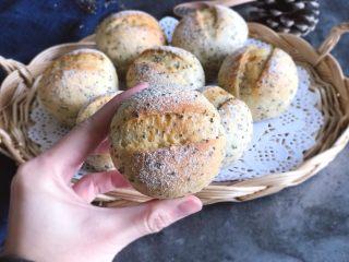 奇亚籽无糖小面包,萌萌的~圆圆的~