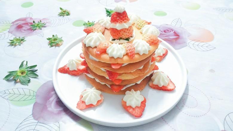 香橙草莓奶油松饼