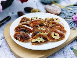 #柿子饼的特殊吃法#柿子饼包核桃-三种口味,近看,诱惑。特别美味,三种口味的健康小零食。