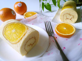 国橙蛋糕卷