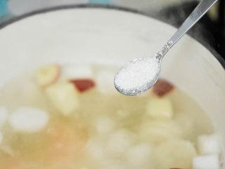 圆子白果羹,放一点糖。