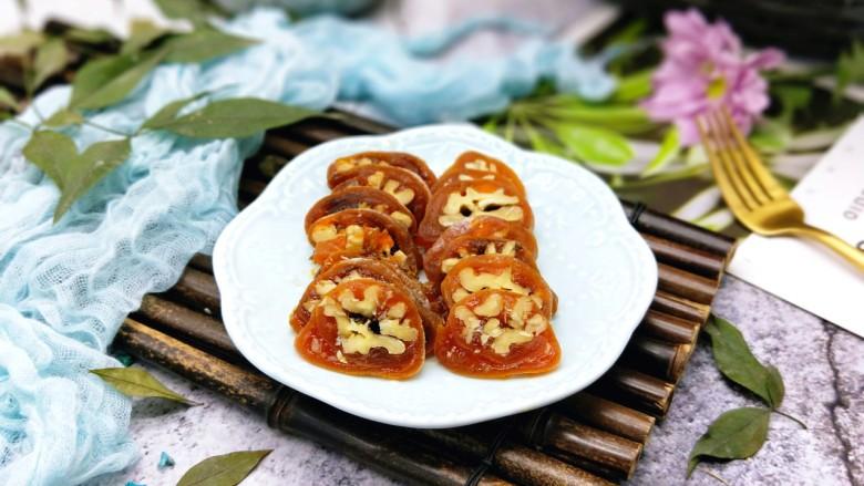 #柿子饼的特殊吃法#柿子饼包核桃-三种口味
