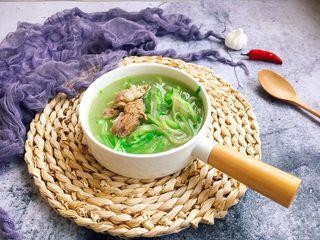 厨房挑战 荤菜 青萝卜粉条大骨汤