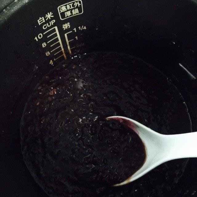 软糯香甜黑米粥~电饭锅版,搅拌均匀