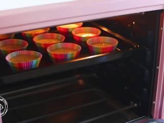 12m+无水蜂蜜蛋糕(宝宝辅食),最后,放入烤箱,上下火170度烤20分钟,注意哈,每个烤箱都不太一样,多注意观察,蛋糕表面金黄即可~