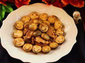草菇炒肉片