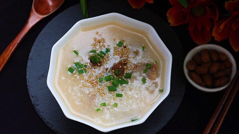 粉肠猪肝粥