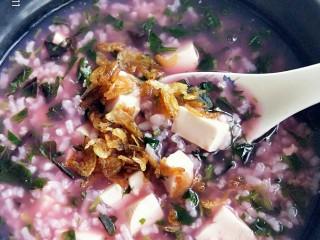 苋菜豆腐咸粥,开始美美的享用吧!