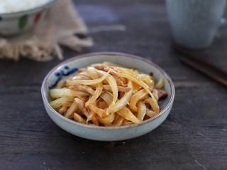 洋葱炒肉丝,成品图