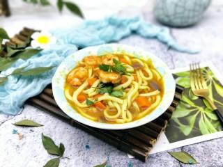 #一碗面#咖喱乌冬面,特别美味,寒冷的冬天一碗面暖身又暖胃。