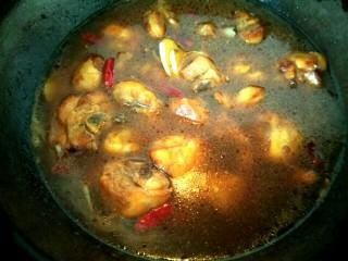 黄焖鸡,放入适量温水,没过鸡块