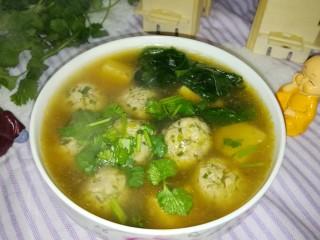 肉丸豆腐菠菜汤,开吃!!!