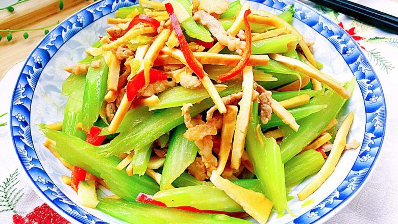 翠&香&丝➕西芹香干炒肉丝