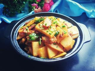 香辣干锅土豆片,成品图来一张。