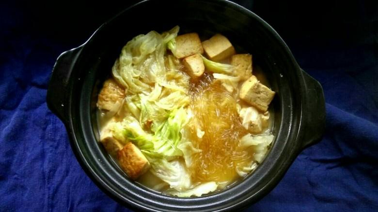 白菜粉丝炖豆腐