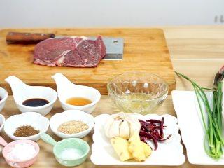开胃菜*薄荷水煮牛肉,食材全家福