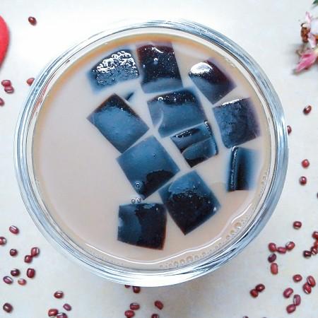 烧仙草红豆奶茶