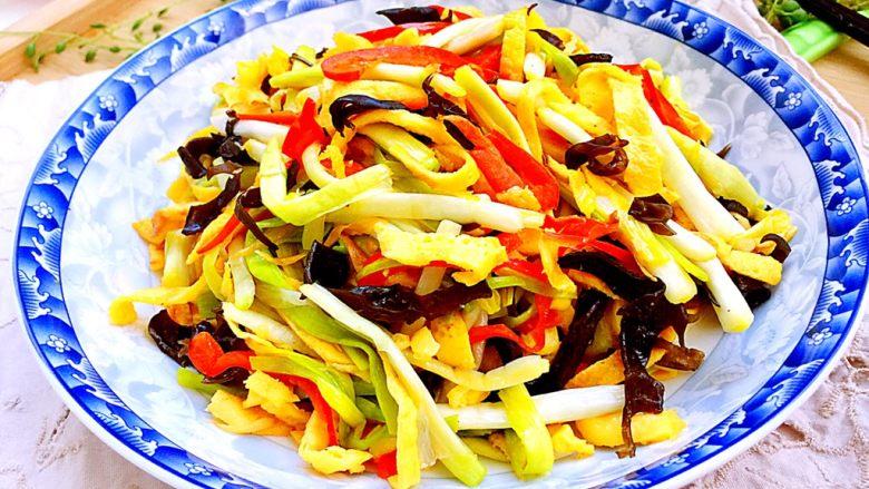 十分钟快手菜系列➕冬日里的美味➕蒜黄炒三丝