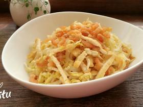 豆腐丝凉拌白菜心