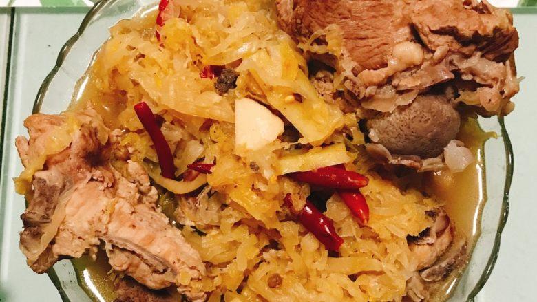 骨汤酸菜炖排骨