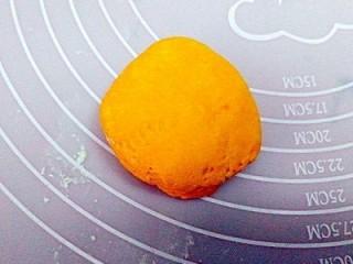 一锅出&枣花馍+红薯枸杞粥  ,取一南瓜面团