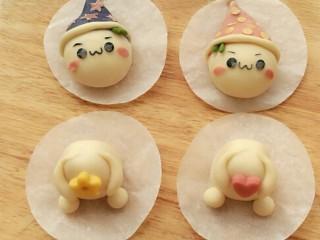 造型馒头——长草颜团子,带帽子的团子,是不是更可爱?