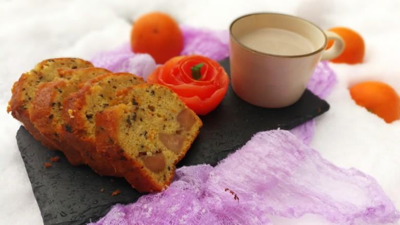 橙香红茶芋头磅蛋糕