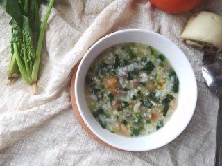 番茄菠菜猪肝粥
