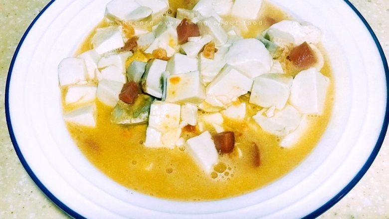 浅湘食光&咸蛋豆腐,出锅摆盘