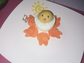 大吉大利,今天吃鸡🐔,将小鸡宝宝放入盘中。(光线原因感觉看着好怪异😳)。