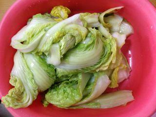 异域小菜-韩式辣白菜, 挤干水分备用