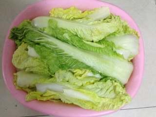 异域小菜-韩式辣白菜, 入冷处,腌制12小时以上(至少8小时),可以看到盆子中腌出了很多的水