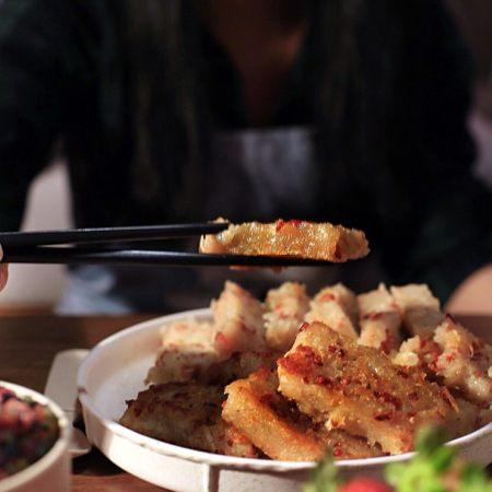 广式茶点-香煎萝卜糕