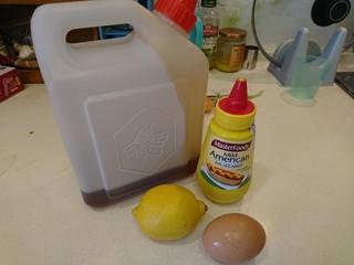 西洋菜柚子沙拉,先調沙拉醬!蜂蜜芥末醬!