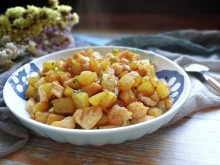 香煎土豆鸡胸肉丁