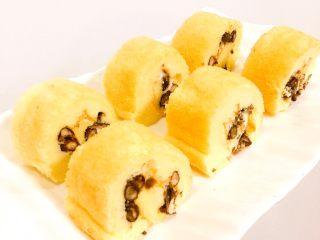肉松or红豆蛋糕卷,想要红豆在外面就反卷