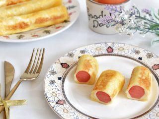 快手早餐—香肠吐司卷,切一下,美美哒,开动吧