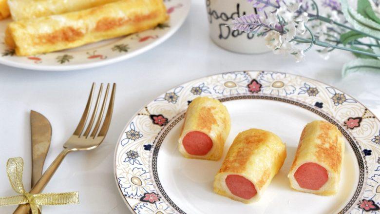 快手早餐—香肠吐司卷