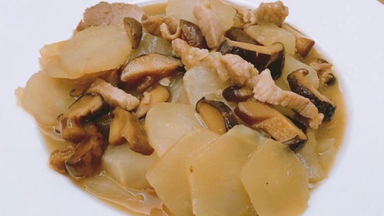 芥菜片炒香菇肉丝