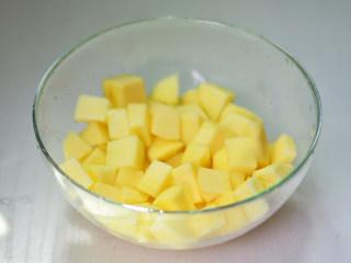 苹果果酱,苹果去皮切小块