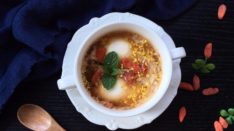 黑糖黄酒炖鸡蛋,趁热吃才最好