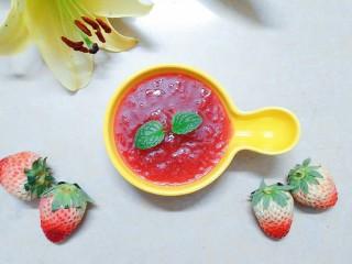 自制新鲜奶油草莓果酱