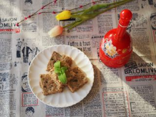 香菇虾米蒸肉饼,成品。