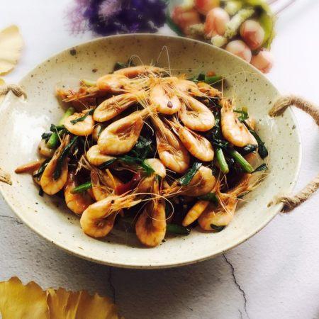 韭菜炒小白虾