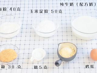 炸牛奶,食材: 纯牛奶(配方奶)350克,玉米淀粉 50克,糖5克 鸡蛋 1个,低筋面粉 40克,面包糠 30克