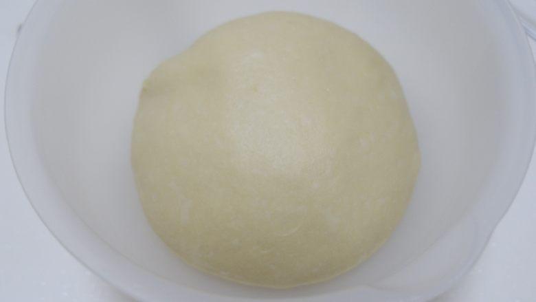 波兰种—北海道吐司,面团放在26℃左右的环境中进行一次发酵,发至2-2.5倍大