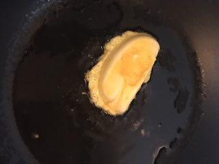 鸡蛋煎馒头,放入锅中小火煎
