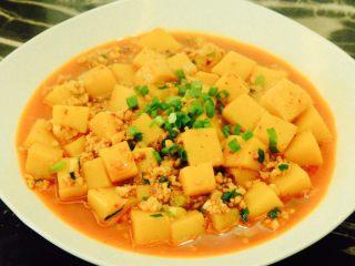 肉末米豆腐,装盘,汤汁,拌饭超好吃的