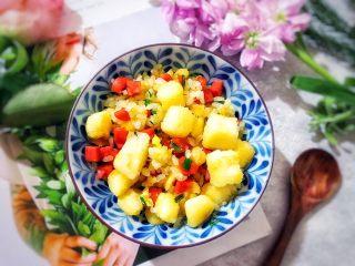 剩米饭and剩馒头也有春天🌿(蒜香火腿肠馒丁炒饭),既能饱腹,又漂亮又好吃,赞一个✌🏻