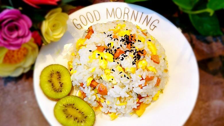 早餐-鸡蛋火腿炒饭